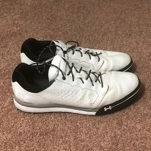 Under Armour Men's White Leather Golf Shoes